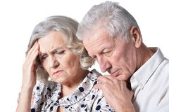 Marito e moglie senior delle coppie Fotografia Stock