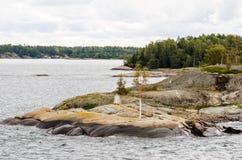 Marittimo firma dentro l'arcipelago di Aland fotografia stock libera da diritti