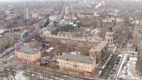Mariupol Ουκρανία Εναέρια άποψη της χειμερινής πόλης απόθεμα βίντεο