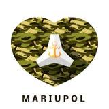 Mariupol begrepp Stock Illustrationer
