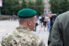 Mariupol, de Oekraïne 12 Juni 2016 de parade gewijd aan de tweede verjaardag van de bevrijding van de stad van Mariupol Royalty-vrije Stock Foto