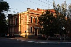 MARIUPOL, DE OEKRAÏNE - SEPTEMBER 6, 2016: De Oekraïne Stad van Mariupol die op de kust van het Overzees van Azov wordt gevestigd stock foto