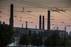 MARIUPOL, DE OEKRAÏNE - SEPTEMBER 4, 2016: Van het Azovstalijzer en Staal de Werken Stock Afbeelding