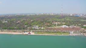 Mariupol miasto na Azov Dennym wybrzeżu zdjęcie wideo