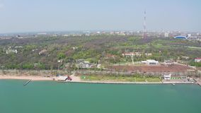 Mariupol stad på den Azov havskusten lager videofilmer