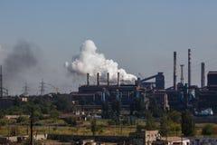 MARIUPOL, UCRÂNIA - 5 DE SETEMBRO DE 2016: Fundições de ferro e de aço de Azovstal Imagem de Stock Royalty Free
