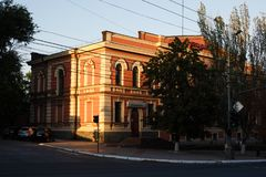 MARIUPOL, UCRÂNIA - 6 DE SETEMBRO DE 2016: Ucrânia A cidade de Mariupol localizou na costa do mar de Azov foto de stock