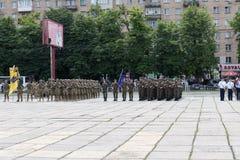Mariupol Ukraina Juni 12 2016 ståta som är hängiven till den andra årsdagen av befrielsen av staden av Mariupol Royaltyfri Fotografi