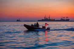 Coast guard boat in Ukraine Royalty Free Stock Image