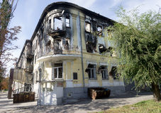Mariupol, Ukraine - 11 octobre 2014 : bâtiments abandonnés de Photo libre de droits