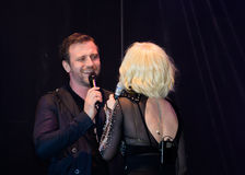 Marius Marin e Loredana Groza Imagem de Stock Royalty Free