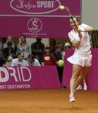 Mariya Koryttseva. KHARKIV, UKRAINE - APRIL 24: Ukrainian tennis player Mariya Koryttseva during her Fed Cup, 2010 World Group Play-Off singles match vs Stock Photos
