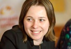 Mariya Muzychuk es un jugador de ajedrez ucraniano Fotos de archivo libres de regalías