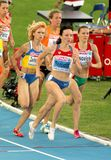 Mariya Savinova of Russia. Compete in the Women 800m during the 20th European Athletics Championships at the Olympic Stadium on July 27, 2010 in Barcelona Royalty Free Stock Image