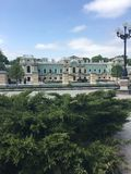 Mariyinsky Palace. Is the official ceremonial residence of the President of Ukraine in Kyiv and adjoins the neo-classical building of the Verkhovna Rada of stock photo