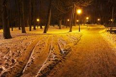 Mariyinsky Park in the evening Stock Photos
