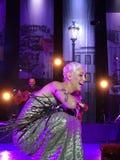 Mariza - μετά από μια τεράστια ζωντανή συναυλία Στοκ εικόνα με δικαίωμα ελεύθερης χρήσης