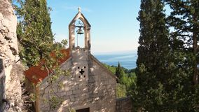 Marjan小山的St Jere教会 影视素材