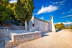 Marjan hill walkway stone chapel Stock Images