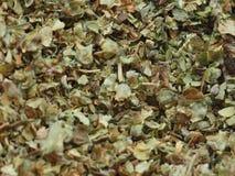 Marjoram Spice. Pile of dried marjoram spice royalty free stock image