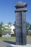 Markör av den första svenska bosättningen i Förenta staterna, fort Christiana, Wilmington, DE arkivbild