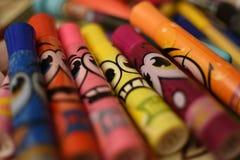 Markörer av färger Arkivfoton