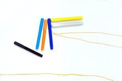 Markörer av flera färger Fotografering för Bildbyråer
