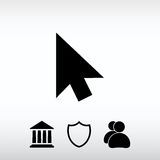 markörer symbol, vektorillustration Sänka designstil Fotografering för Bildbyråer