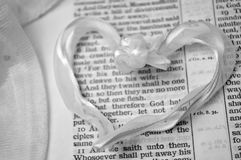 Mark 10:7 με την καρδιά & x28 γάμος verse& x29  Στοκ Εικόνα