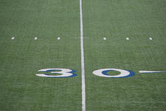 Mark of 30 yards. On the field for college football Royalty Free Stock Image