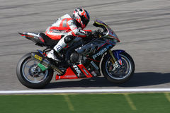 Mark Aitchison - BMW S1000 RR - Grillini Progea. Mark Aitchison rider BMW S1000 RR with  Grillini Progea Superbike Team in the world Superbike Championship SBK Stock Image