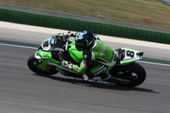 Mark Aitchison Kawasaki ZX-10R Pedercini. Mark Aitchison - Kawasaki ZX-10R - Team Pedercini in the world Superbike Championship SBK Stock Photo