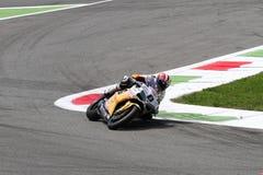 Mark Aitchison #8 su Ducati 1098R Team Effenbert Liberty Racing Superbike WSBK immagini stock