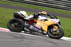Mark Aitchison #8 su Ducati 1098R Team Effenbert Liberty Racing Superbike WSBK fotografia stock libera da diritti