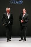 Mark Badgley and James Mischka walk the runway at Badgley Mischka fashion show during Fall 2015 Bridal Collection Stock Image