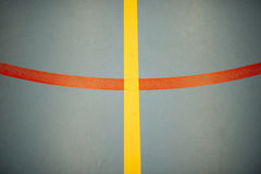 Mark basketball court, handball or footbal. Texture background. Lines Stock Photography