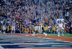 Mark Bavaro. New York Giants TE Mark Bavaro scores a TD in the Superbowl. (Image taken from color slide stock image
