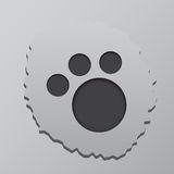 Mark of the beast. Gray background 3d Stock Photo