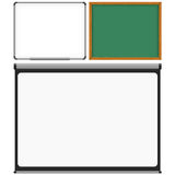 Mark Board, Chalk Board and Projector Screen Royalty Free Stock Photo