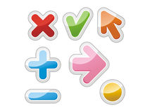 Mark, buttons. Vector illustration Stock Photo