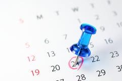 Mark the calendar. Royalty Free Stock Photography
