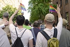 Mark Carson Anti Hate Crime Rally Stock Photo
