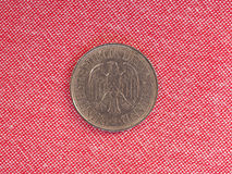 1 mark coin, Germany. 1 mark coin money DEM, currency of Germany before the introduction of EUR stock images
