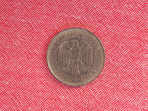 1 mark coin, Germany. 1 mark coin money DEM, currency of Germany before the introduction of EUR royalty free stock images
