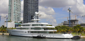 Mark Cuban's yacht Fountainhead Royalty Free Stock Images