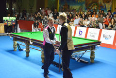 Mark Davis beat Neil Robertson 8-4 Royalty Free Stock Images