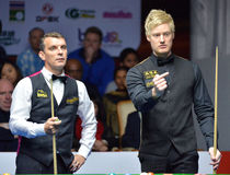 Mark Davis beat Neil Robertson 8-4 Stock Image