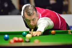 Mark Davis beat Neil Robertson 8-4 Stock Images