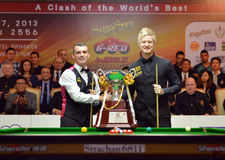 Mark Davis beat Neil Robertson 8-4 Royalty Free Stock Image