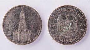 Mark de royaume allemand 1935 de la pièce de monnaie 5 Photographie stock libre de droits